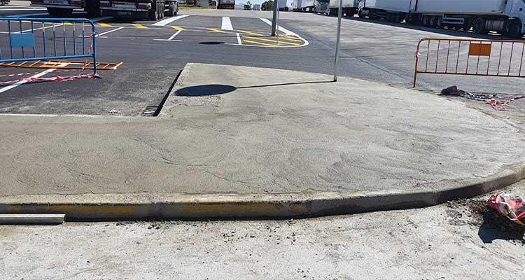 Obras de campaña asfalto 2020 en Mercamadrid
