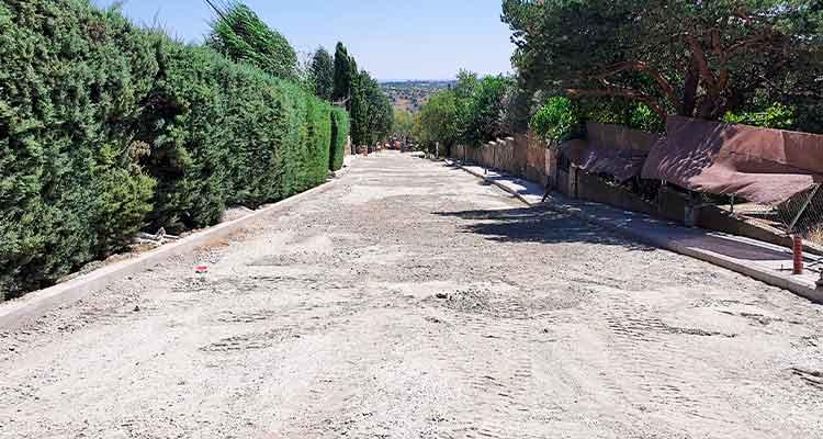 Nuevo vial en la calle Madrid en Cabanillas de la Sierra 1