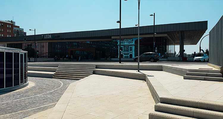 Obras de construcción de la integración del ferrocarril en León