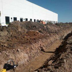 Obras de saneamiento en la plataforma logística SI-20 en Cabanillas del Campo