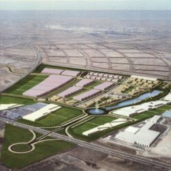 Canalización eléctrica y saneamiento en las obras de ampliación de Airbus Group Getafe